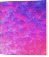 Abstract Sky Wood Print