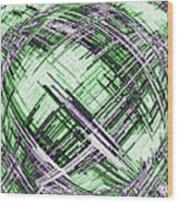 Abstract Spherical Design Wood Print