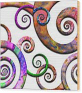 Abstract - Spirals - Planet X Wood Print