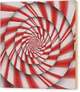 Abstract - Spirals - The Power Of Mint Wood Print by Mike Savad