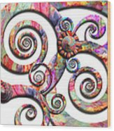 Abstract - Spirals - Wonderland Wood Print