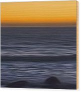 Pacific Abstract Sunset Wood Print
