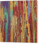 Abstract Sunset Over Tuscany  Wood Print