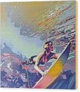 Abstract Surf Wood Print