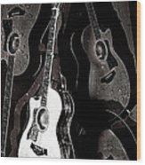 Abstract Taylor Guitars Wood Print