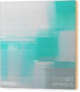 Abstract Teal Square Wood Print