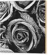 Dark Star Roses For David Bowie Wood Print