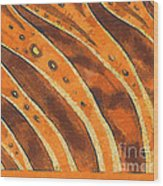 Abstract Tiger Stripes Wood Print