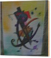 Abstract Trangle Wood Print