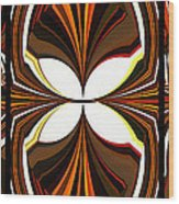 Abstract Triptych - Brown - Orange Wood Print