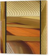Abstract Triptych - Omaha Library Building Wood Print