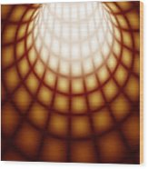Abstract Tunnel Line Technology Background Wood Print