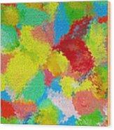 Abstract  Twenty  Of  Twenty  One Wood Print