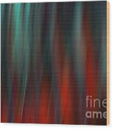 Abstract Vertical Red Green Blur Wood Print