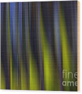 Abstract Vertical Red Yellow Blue And Green Wood Print