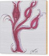 Abstract Viii Wood Print