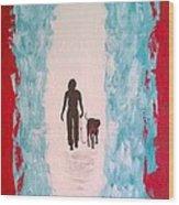 Abstract Walk Wood Print