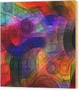 Abstract Watercolor Wood Print