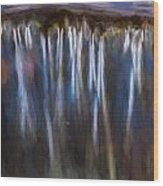 Abstract Waterfalls Childs National Park Painted  Wood Print