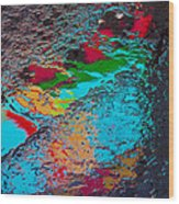 Abstract Wet Pavement Wood Print