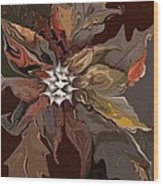 Abstract Whispering Leaves Wood Print