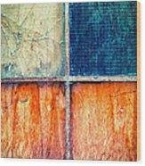 Abstract Window Wood Print