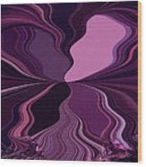 Abstract Wings In Plum Wood Print