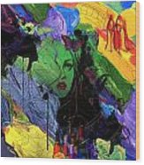 Abstract Women 014 Wood Print