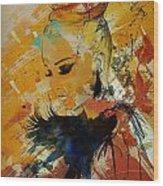 Abstract Women 010 Wood Print