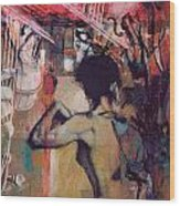 Abstract Women 017 Wood Print