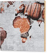 Abstract World Map - Chocolates - Confections - Candy Shop Wood Print