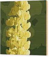 Abstract Yellow Lupine Wood Print