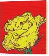 Abstract Yellow Rose Wood Print