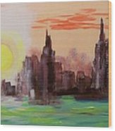 Abstracted Ny Skyline Wood Print