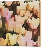 Abstracted Tulips Wood Print