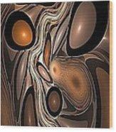 Abstraction 250-02-13 Marucii Wood Print