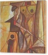 Abstraction 486-10-13 Marucii Wood Print