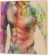 Abstractiv Body -2 Wood Print