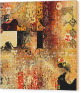 Abstracture - 103106046f Wood Print by Variance Collections
