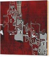 Abstrait En Do Majeur - S02t02a Wood Print
