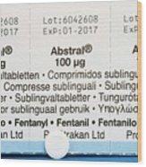 Abstral Painkiller Drug Wood Print