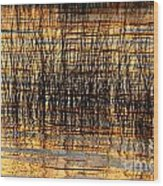 Abstract Reed And Water Patterns Wood Print