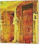 Abu Simbel Hypostyle Hall Wood Print