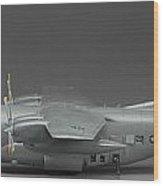 Ac 130 Gunship Side View Wood Print