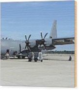 Ac-130j Ghostrider At Hurlburt Field Wood Print