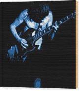 Ac Dc #35 In Blue Wood Print