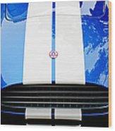 Ac Shelby Cobra Grille - Hood Emblem Wood Print