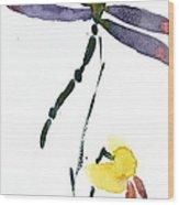 Acacion Dragonfly Wood Print