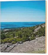 Acadia Blue Wood Print