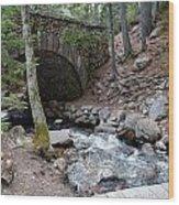 Acadia National Park Carriage Road Bridge Wood Print